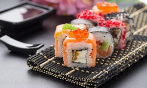 色味俱佳摆盘效果寿司摄影高清图片