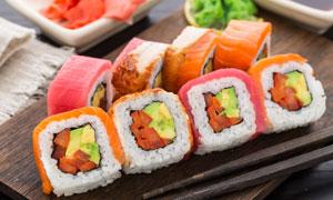 精心制作好的美味寿司摄影高清图片