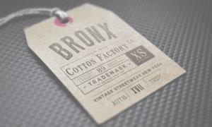 服装标签吊牌特写效果贴图模板素材