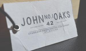 灰白纸张材质吊牌标签贴图设计模板