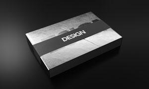 短袖衫黑色包装盒效果设计贴图模板