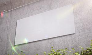 光线照耀下的标志牌贴图模板源文件