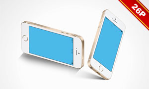 不同视角下iPhoneSE原型贴图模板