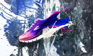 时尚运动鞋海报设计PS教程素材