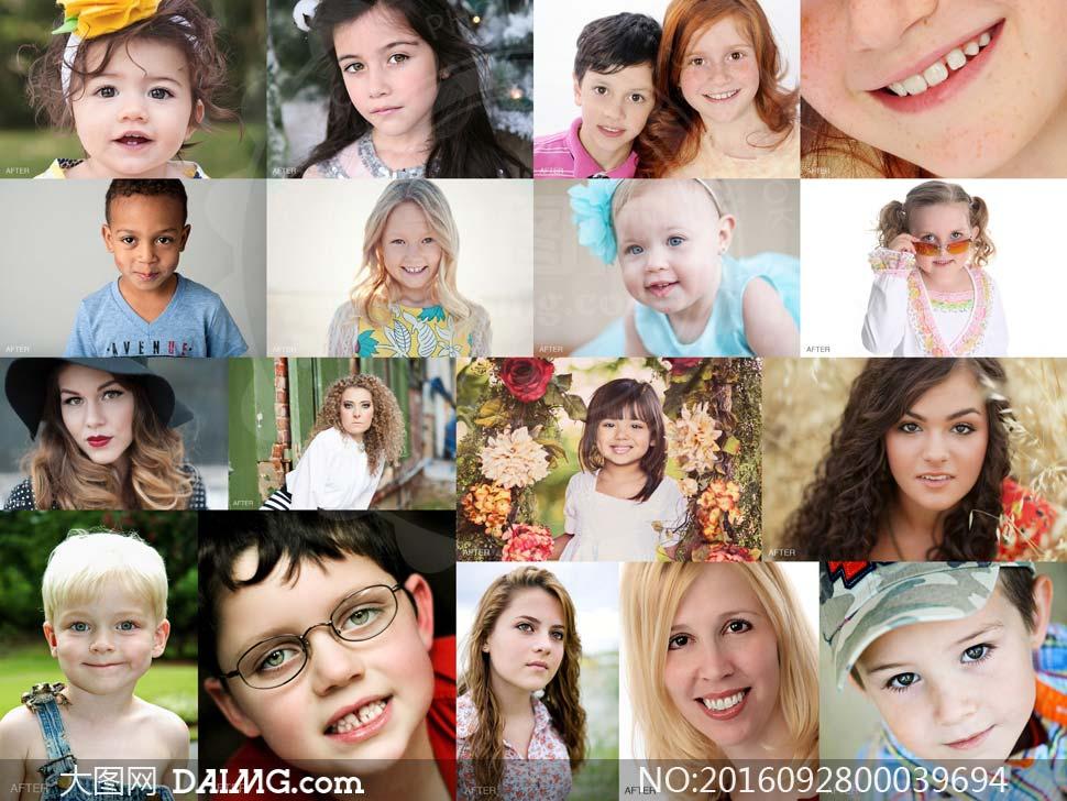 淘宝上传图片尺寸要求_人像眼睛美化和美白牙齿PS动作_大图网图片素材