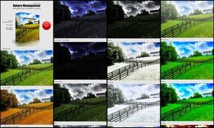 风景照片四季色彩转换特效PS动作