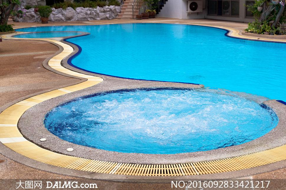室外温泉泳池景观主题摄影高清图片 - 大图网设计素材