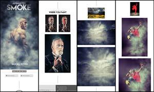 照片添加烟雾和晨雾动画效果PS动作