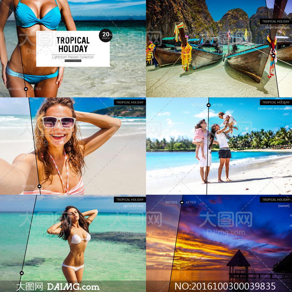 热带海景照片后期艺术调色LR预设