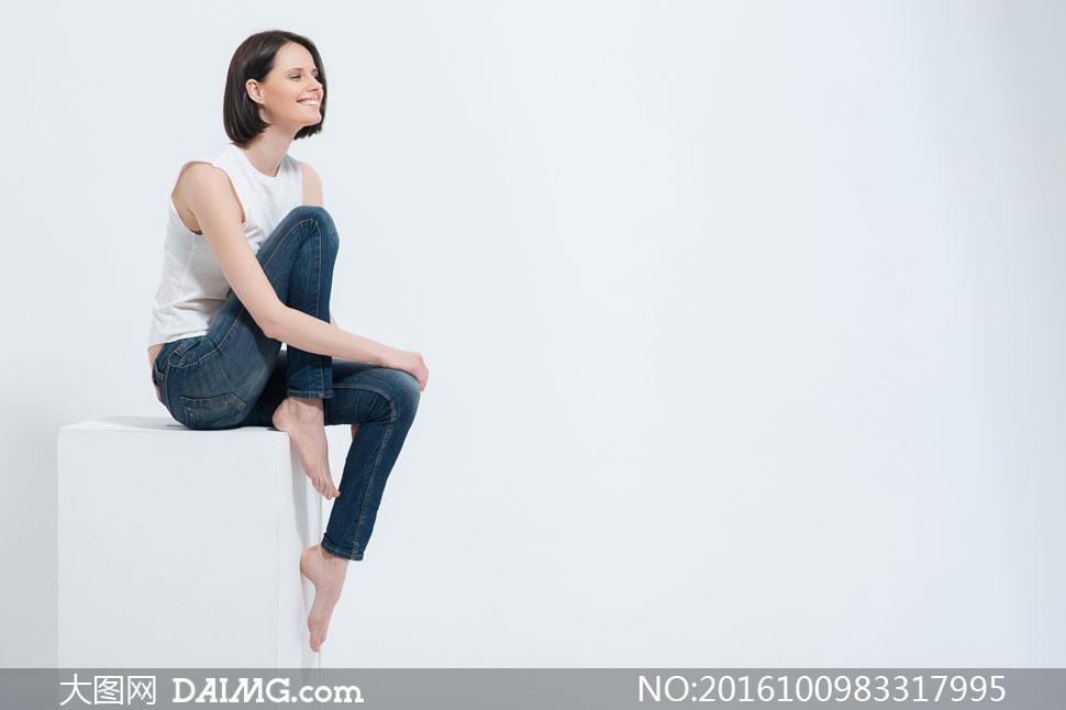 高清摄影图片大图素材人物美女女人女性写真模特短发