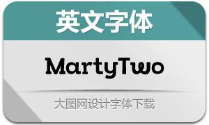 MartyTwo系列三款英文字体