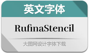 RufinaStencil系列英文字体