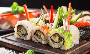 精心制作的美味寿司等摄影高清图片