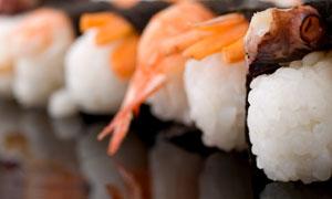 其味无穷寿司料理微距摄影高清图片