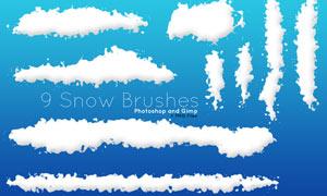 9款冬季积雪效果PS笔刷