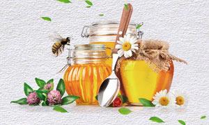 天然蜂蜜促销活动海报设计PSD素材