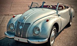 年代久遠的復古型汽車攝影高清圖片