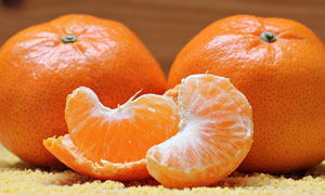 酸甜可口的两个桔子等摄影高清图片