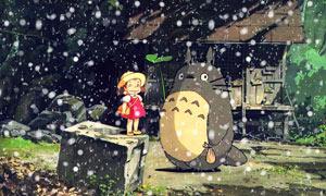 超酷的冬季下雪效果PSD模板