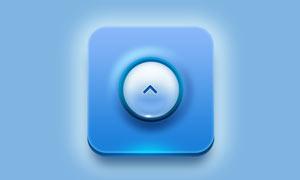 立体效果的蓝色APP软件图标PSD源文件