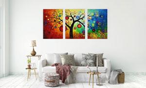挂着果实的树?#23621;?#30011;无框画高清图片