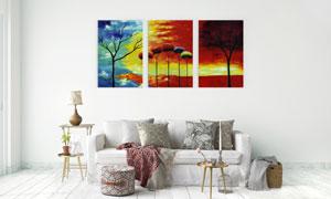 超现实创意树木无框画设计高清图片