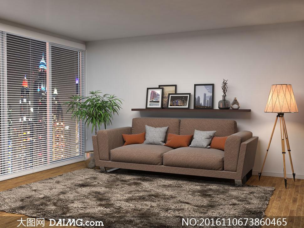 觀景房內的沙發家具等攝影高清圖片 - 大圖網設計素材