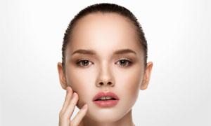 肌肤护理主题美女模特摄影高清图片