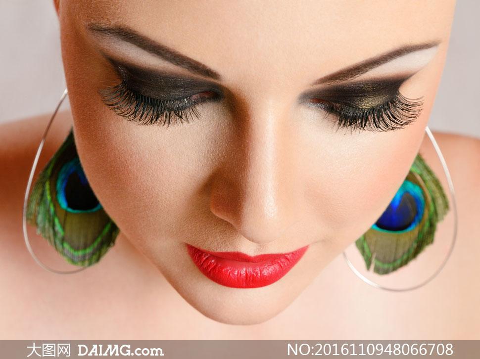 超长图片高清柔情浓妆v图片人物天使美女睫毛情趣内衣图片
