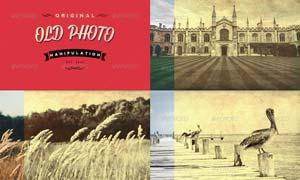 照片添加复古老照片效果PSD模板