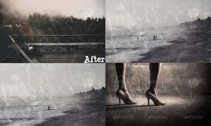 照片转褪色电影艺术效果PSD模板