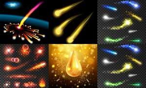 繽紛絢麗光效元素創意設計矢量素材