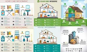 居家生活元素信息图表创意矢量素材