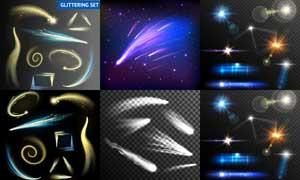 絢麗光效與浩瀚星空等創意矢量素材