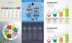石油工业等信息图创意设计矢量素材