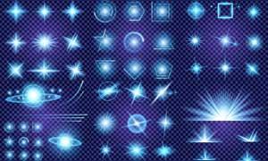多种光效光源等主题矢量素材集合V1