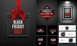 黑色星期五商场促销主题矢量素材V2