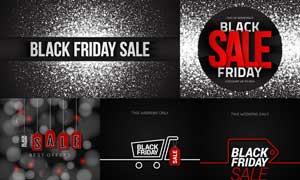 黑色星期五商场促销主题矢量素材V3