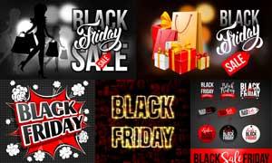 黑色星期五商场促销主题矢量素材V5