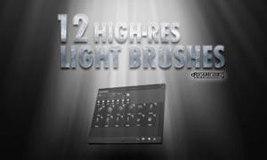 10高清晰放射光线效果PS笔刷