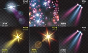 耀眼光效与炫丽星光等创意矢量素材
