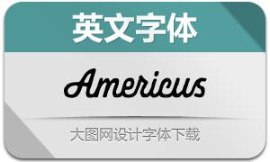 Americus系列两款英文字体