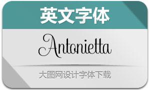 Antonietta系列7款英文字体
