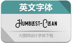 Humblest系列三款英文字体