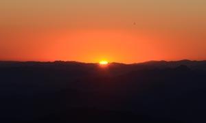 海坨山日出美景摄影图片