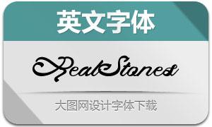 RealStones系列8款英文字体