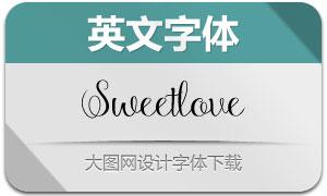 Sweetlove系列7款英文字体