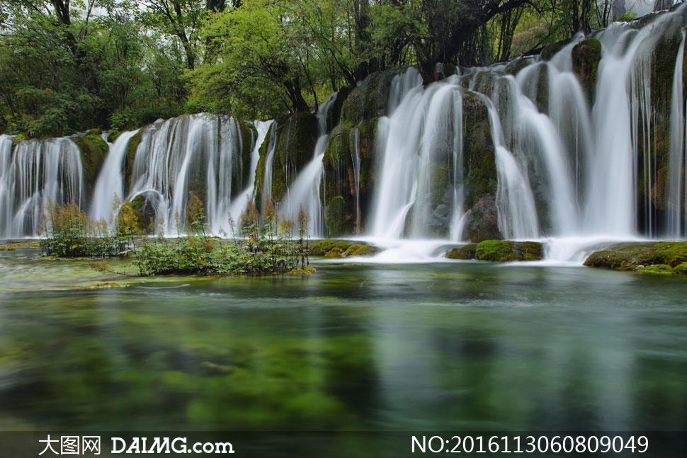 键 词: 高清摄影大图图片素材自然风景风光树木树林大树茂密茂盛潭水
