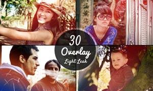 30款懷舊漏光背景效果圖片素材