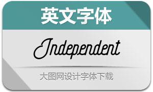 Independent系列3款英文字体